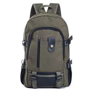 Canvas Travel Backpack  £4.65 w/code @  Gearbest (Army Green)