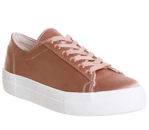 Office Pink Satin lace up trainers only £9.60 (free C&C), was £40. Most sizes available