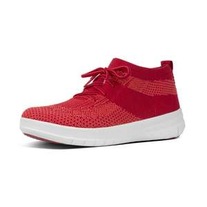 Women's FitFlop ÜBERKNIT™  Slip-On High Top Sneakers in Red was £69.95 now £22.40 Delivered w/code @ FitFlop