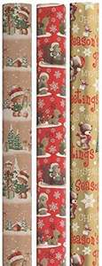 15m Christmas Gift Wrapping Paper 3x5m Roll - Cute Santa Bear Designs £4.85 delivered @ Amazon - sold by R & S Supplies Ltd