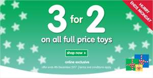 3 for 2 on ALL Full Price Toys + upto 60% Off Sale + Free C+C @ ELC & Mothercare (inc Lego / PJ Masks / Paw Patrol / Happyland