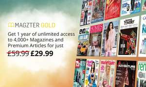 12-Month Magazines Subscription for Up to Five from Magzter (50% Off) £25.49 Groupon
