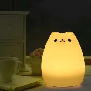 Cartoon Cat LED Night Light (7 Colours) £4.33 Delivered using code @ Gearbest
