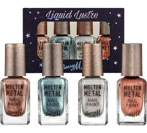 Barry M Molten Metals Nail set of 4 (Usually £3.99 each) £6.99 or £5.59 when you use CODE BARRYM20 and have it fast tracked or delivered :)
