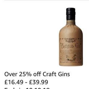 23% off Craft Gin: Ableforth's Bathtub Gin, 70 cl - £25.99 @ Amazon