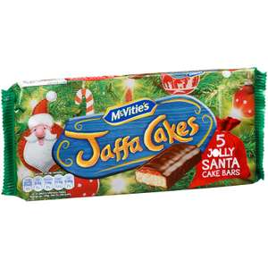 Santa Jaffa Cake Bars (5 pack each Bar Size: 24.5g (Approx.)​ ONLY 75p @ B&M