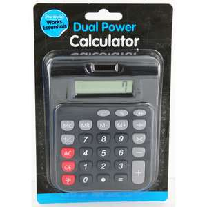 Solar powered calculator £2 each or 3 for £4.50. Click and Collect from The Works