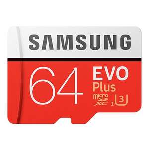 Original Samsung EVO Plus UHS-3 64GB Micro SDXC Memory Card £16.22 with code at Geekbuying
