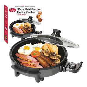 Quest Multi Function Electric Cooker With Lid 1500W Non Stick 30cm - Now £10 @ Wilko