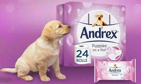 Andrex Gentle Clean, Puppies On a Roll Toilet Tissue 24 Family Pack £7 @ Tesco Instore