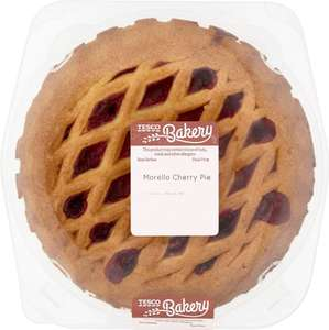 Tesco Rhubarb Pie (522g) / Cherry Pie (522g) / Apple Pie ( ONLY £1.10