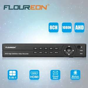 Floureon 8ch DVR £14.24 GEARBEST - Also deals on IP and Analog cameras at Gearbest for £14.24