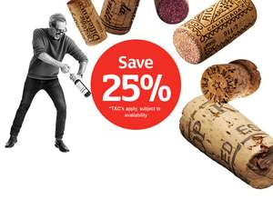 25% off when you buy 6 or more bottles of Wine, Champagne  Port or Sherry @ Sainsbury's from 29th Nov