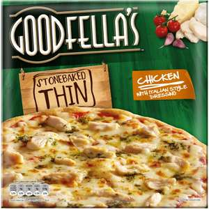 Goodfella's Stonebaked Thin Margherita Pizza (345g) / Thin Chicken Pizza With Italian Style Dressing (365g) / Thin Pepperoni Pizza (340g) was £2.00 now £1.25 @ Sainsbury's