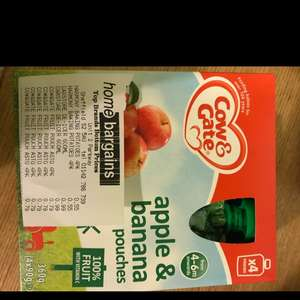 Cow & Gate fruit pouches instore at Home Bargains for 79p