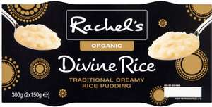 Rachel's Organic Coconut Divine Rice Pudding / Organic Divine Rice Puddings / Organic Salted Caramel Divine Rice Pudding (2 x 150g) was £1.60 now £1.00 @ Sainsbury's and Tesco