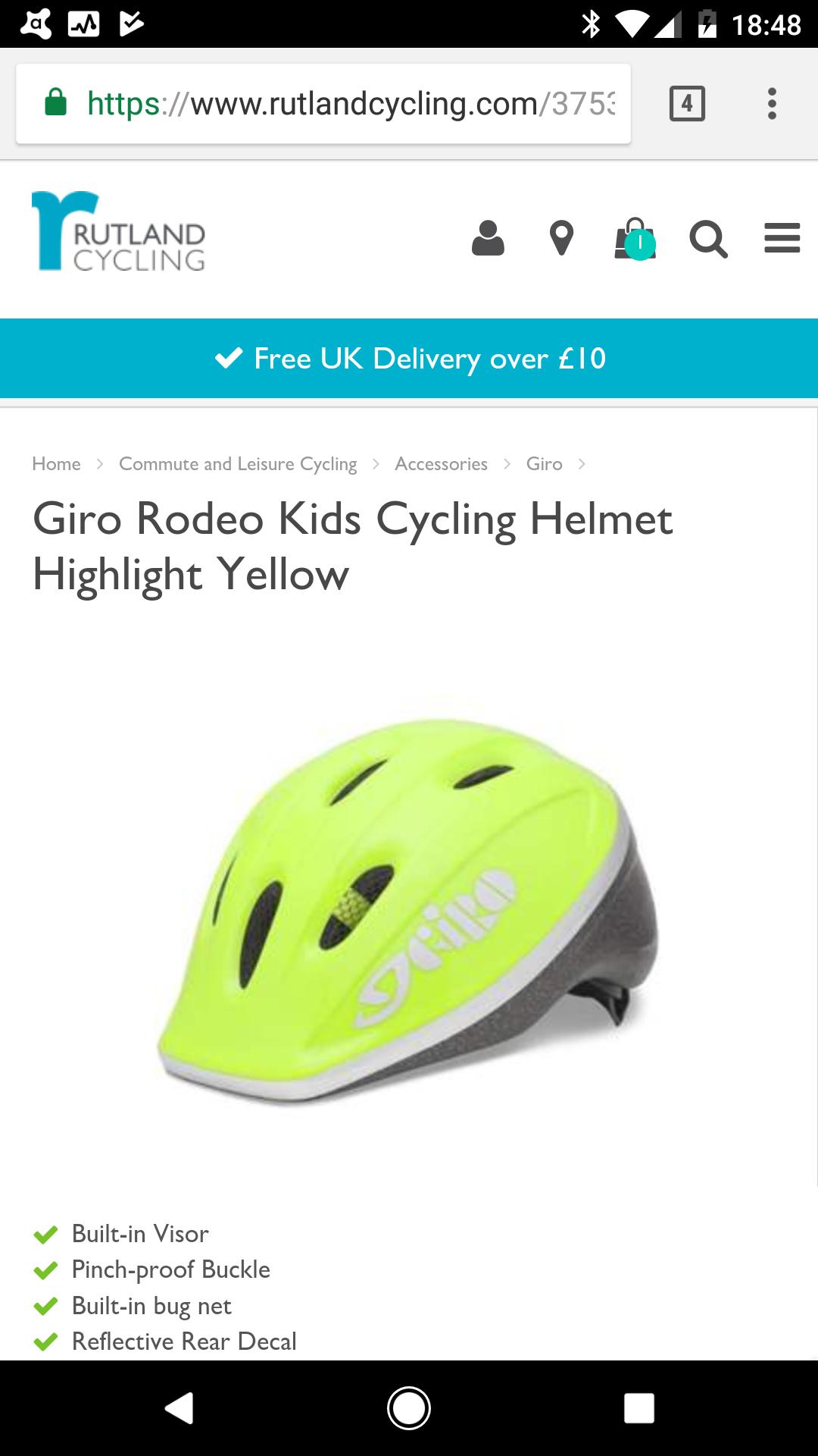 Giro Kids bike helmet £4.99 @ Rutland