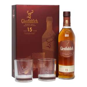 Glenfiddich 15 Gift Pack for only £34.90 + £4.95 p&p @The Whisky World