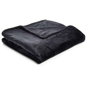 Wilko Supersoft Throw Black 200 x 200cm Different colours available for £6