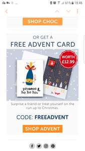**FREE** chocolate advent calendar or chocolate card @thortful....Just cover p&p