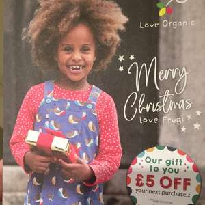 £5 off purchase at Frugi until 18th Dec 2017