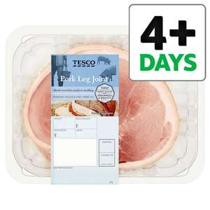 Tesco pork crackling leg joint half price £2.50