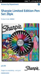 28 special edition Sharpies £9.99 instore B&M stores (national deal)