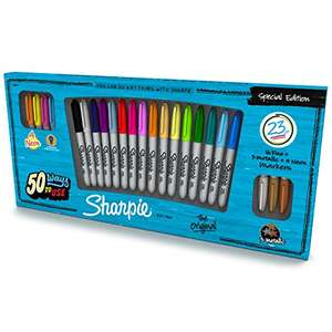 23 Sharpie fine markers inc 3 metallic £7.99 at Amazon (add-on item, free delivery over £20 in total)