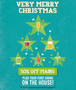 Chiquitos BOGOF on mains plus free drink inc pint beer / glass prosecco