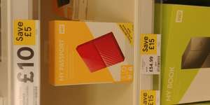 WD My Passport 2TB £54.99 @ Tesco instore