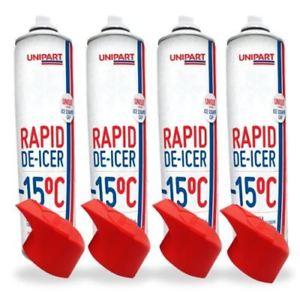 Unipart De-Icer 600ml With Unique Scraper Cap Bundle 4 Pack £2.08 delivered @ unipart-autostore ebay