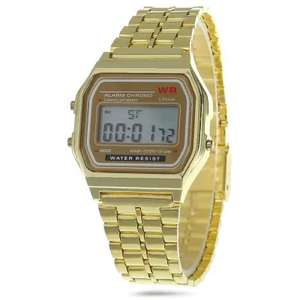 Look the part with this retro stainless steal gold effect watch, £1.97 delivered @ gearbest