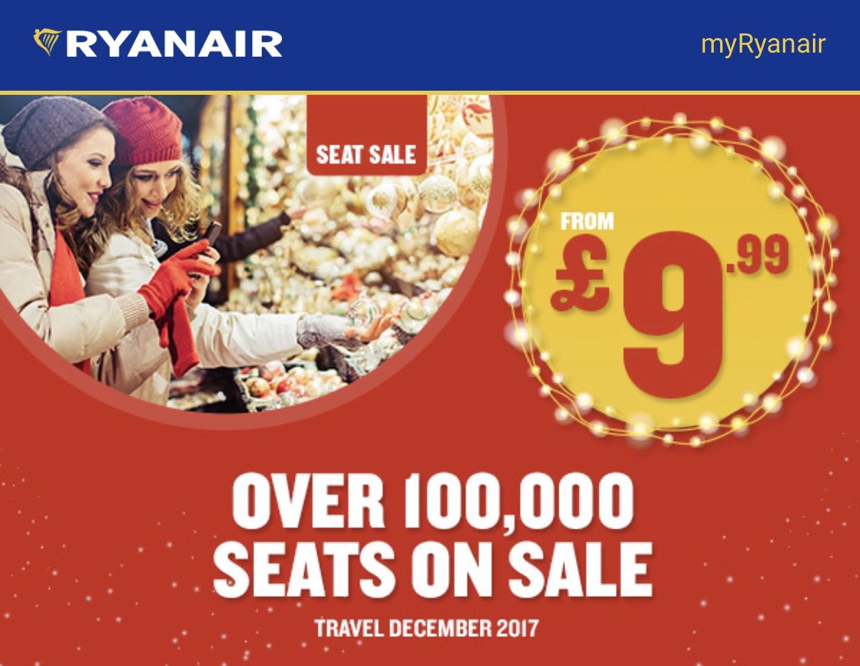 Ryanair seat sale!!!