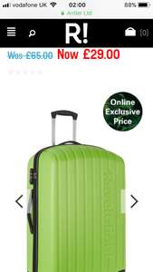 Large revelation suitcases reduced on the revelation website