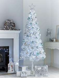 At B&M stores 6ft white Christmas  tree  £12 !!!