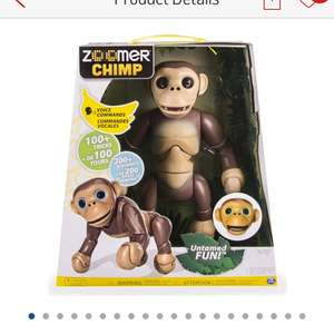Zoomer chimp £19.99 argos order instore only