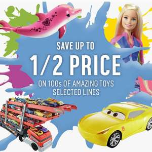 Up to half price on selected toys at argos