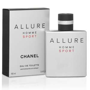 Great scent! CHANEL ALLURE HOMME SPORT Eau De Toilette Spray 100ml £61.20 @ Debenhams