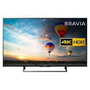"Save £80 on a 43"" 4K Sony XE80 from John Lewis using Price match - £549"