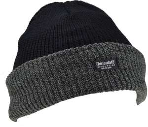 Mens Knitted Turn Up Thinsulate Thermal Winter Hat Black With (40g) Thinsulate lining SKI HAT - £2.19 @ Amazon - Dispatched from and sold by School Wear United & Ayra® Mens Wear.