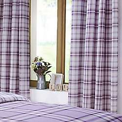 Catherine Lansfield Kelso Heather Curtains 66x72 Inches (168x183cm) was £28.79 now £10 C+C @ Tesco Direct (sold by Cleverboxes)