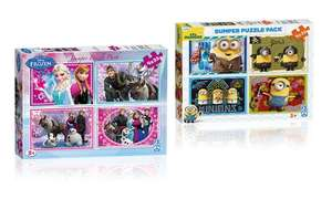 82p Puzzle @ Groupon - Frozen or Minions Bumper Puzzle Pack  - £2.81 each Delivered