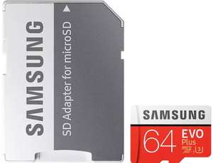 Samsung 64GB Evo Plus Micro SD Card (SDXC) + Adapter - 100MB/s - £18.95 (With code) @ MyMemory