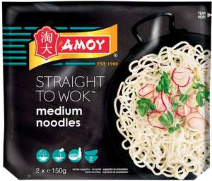 Amoy Straight to Wok Thread Fine / Medium / Thick Noodles (2 x 150g) was £1.50 now £1.00 @ Sainsbury's