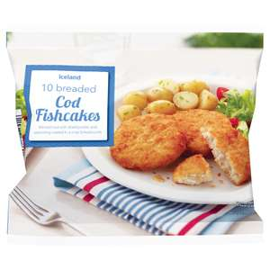 Iceland 10 Breaded Cod (41% Minced Cod) Fishcakes (420g) ONLY £1.00 (10p each) @ Iceland