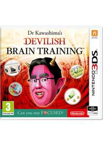Dr Kawashima's Devilish Brain Training: Can you stay Focused? 3ds/2ds etc £9.99 @ Simplygames