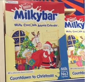 Milkybar chocolate advent calendars reduced to £1 each B & M instore