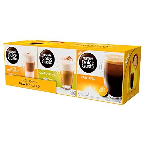 Nescafé Dolce Gusto Variety Pack, Preludio + Cappuccino + Latte Macchiato, Pack of 3 (48 pods) - £10 or £9.50 S&S @ Amazon