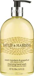 Baylis & Harding Mandarin & Grapefruit Hand Wash (500ml) was £2.00 now £1.33 + Mix and Match @ Waitrose