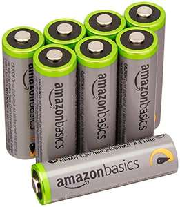 AmazonBasics Rechargeable Batteries 2500 mAh [Pack of 8] (£10.11 for Prime Students) - £11.89 (Prime) £14.88 (Non Prime) @ Amazon